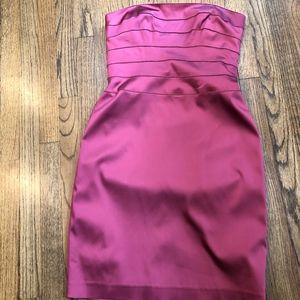Kay Unger Strapless Dress Pink Satin Size 10